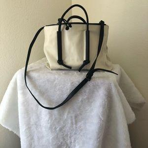 Kooba Bags - Kooba White Bag w/Black Handles & Straps